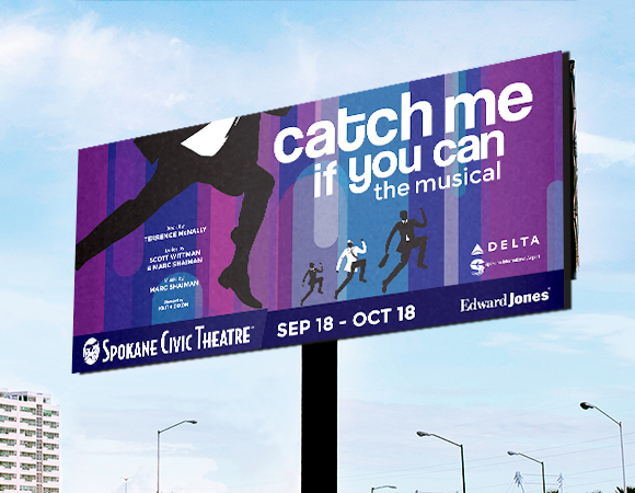 Spokane Civic Theatre Catch Me If You Can Billboard