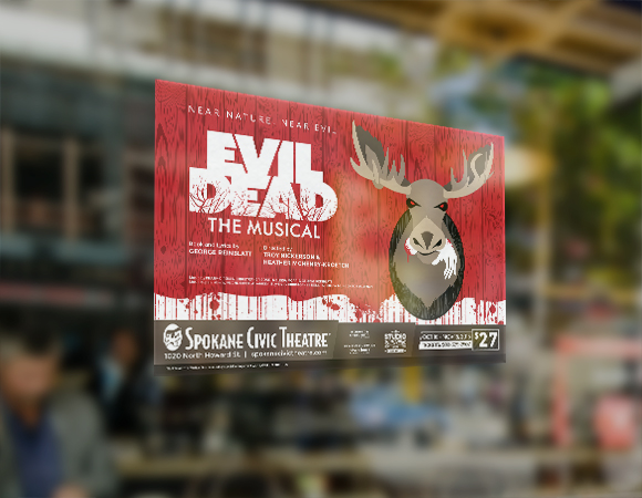 Spokane Civic Theatre Evil Dead Poster