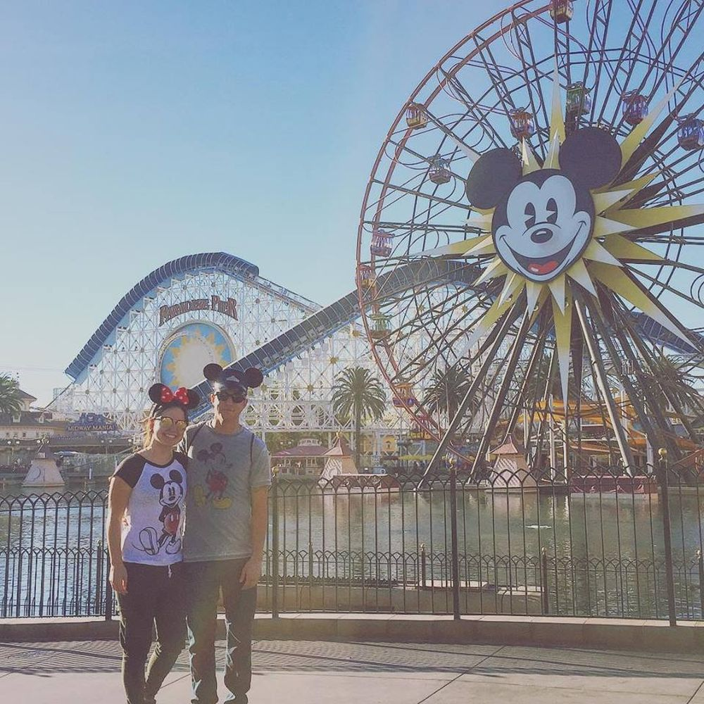 Happy couple at Disney Land